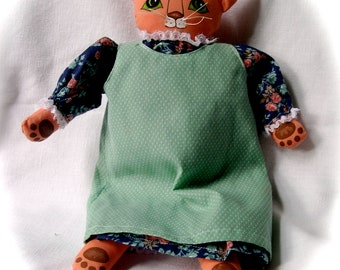 Pretty Kitty Cloth Doll Konstance
