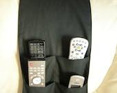 Black Remote Control Caddy for TV/DVD Remotes 4 pocket