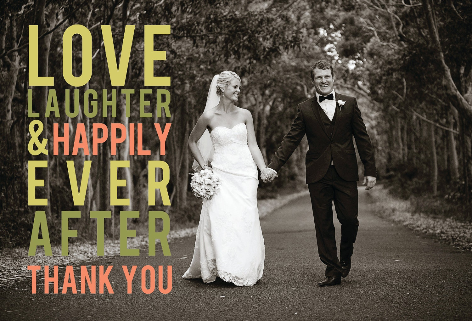 Ever After Wedding Thank You Card Design – Thank You Cards After Wedding