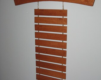 Personalized Solid Mahogany Martial Arts Trophy Shelf and Belt Display Rack Arch with Kickers
