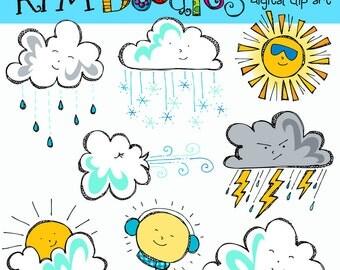 KPM Weather Friends Digital Clip Art COMBO