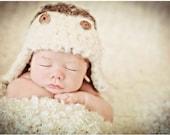 Newborn Baby Boy Photo Prop Aviator Hat