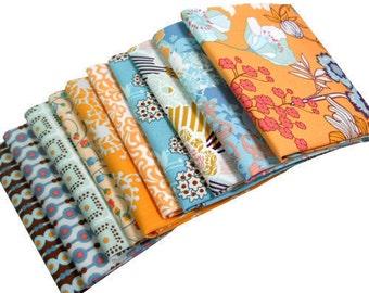 SUMMERLOVE Fat Quarter Bundle - Art Gallery Fabric - Blue Crush Palette  - 10 Pcs