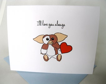 Valentine's Day Gremlins Gizmo Love Card