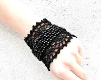Versailles style Marie Antoinette  Beadwork Jewelry / bracelet Cuff  Beadwork Free form  crochet bracelet cuff