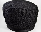 RESERVED for C MM | Vintage Hat | Halloween | Persian Lamb Wool Hat | Black Hat | Russian Hat | 1950s | 50s | 1960s | 60s | Jackie