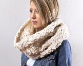 The Go Cowl- Chunky Crochet in Winter White