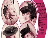 1940s Millinery Booklet - The Hatmaker, No.6  - vintage hat making PDF
