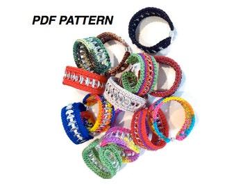 Crochet Pattern - INSTANT DOWNLOAD PDF Pattern-  Friendship Cuff Bracelet
