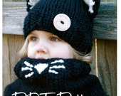 Knitting PATTERN-The Caitlynn Cat Set (Toddler, Child and Adult sizes)