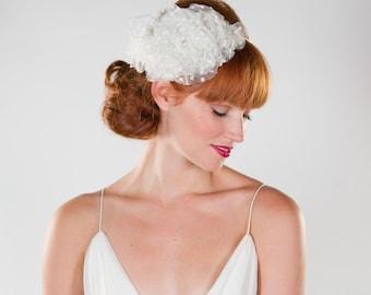 Ivory, Floral, Halo, Bridal Wreath, Headband, SALE, Wedding Accessory