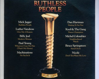 Ruthless People Soundtrack 1986 VIntage Vinyl Record Album Epic LP, Mick Jagger, Luther Vandross, Billy Joel, Bruce Springsteen