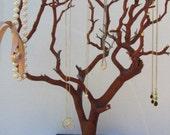 20-22 Inch Manzanita Jewelry Tree on Square Tin Base