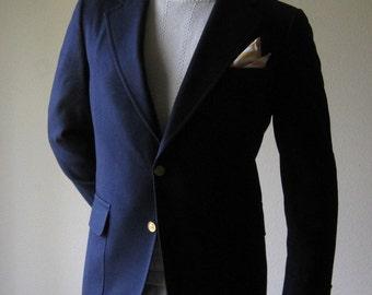 1960s Navy Wool Blazer sz 42