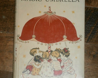 """1943 """" Told under the magic umbrella."""" -Modern Fanciful Stories for Young Children- Vintage Book"""
