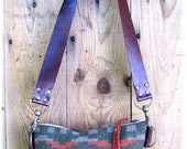 Navajo Woven Print and Leather Purse