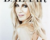 Bazaar. Jennifer Aniston. Print. Frame Ready. Choose Size.
