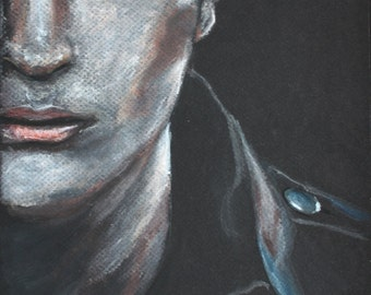 Robert Pattinson as Edward Cullen. Breaking Dawn. Original Pastel Drawing. 9x12.
