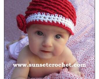 Peppermint Swirls Hat Crochet Pattern (330)