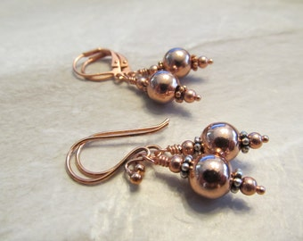 Sophisticated Boho, Copper or Mixed Metals Earrings