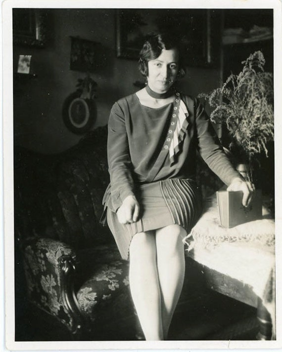 """Vintage Photo """"Lady of the House"""", Photography, Paper Ephemera, Snapshot, Old Photo, Collectibles - 0034"""