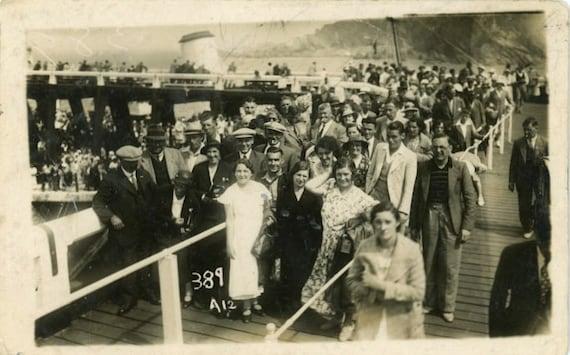 "Vintage Photo Postcard ""Arrival"", Photography, Paper Ephemera, Snapshot, Old Photo, Collectibles - 0075"