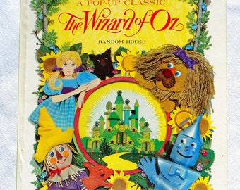 rare wizzard of oz pop up book