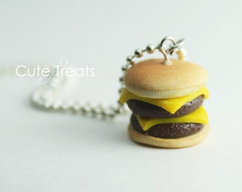 Food jewelry - Double Cheese Burger
