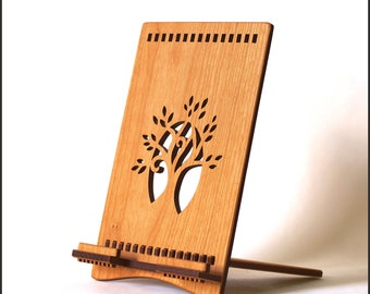 Wood Tablet Stand - Tree - Designed for iPad