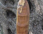 Contemplation, hand carved olive wood spiritual sculpture