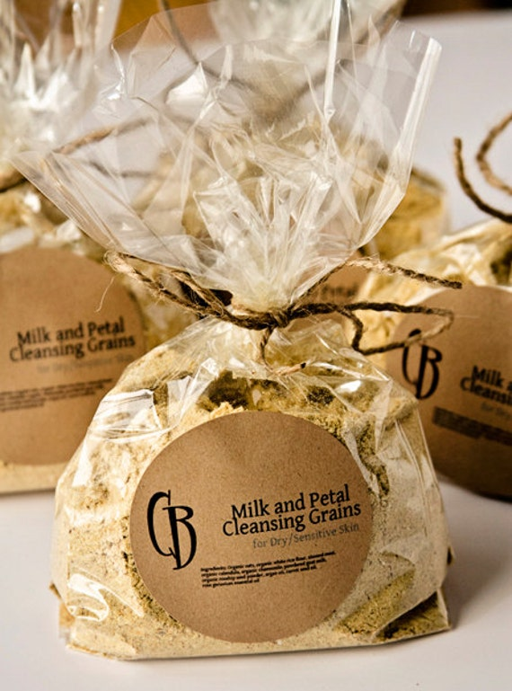 Milk and Petal Cleansing Grains Facial Scrub - BULK 6 oz with RECIPE