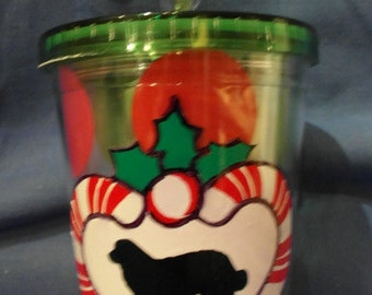 20% OFF  Berner and Candy Canes Holiday Thermal Cold Drink Cup w/ Straw