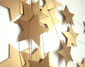 Antique Gold Stars Garland - Party Garland - New Years Garland - Christmas Garland - Custom Colors