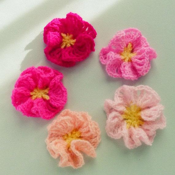Crochet Flower Tutorial For Beginners : Flower Crochet Pattern Amelie Easy beginner PDF Photo by bySol