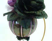 Gothic Christmas Ornament Purple and Black Holiday Tree Decoration