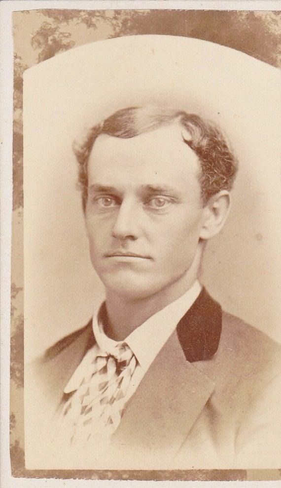 Victorian Gentleman- Handsome Portrait- 1800s Vintage Photograph- CDV