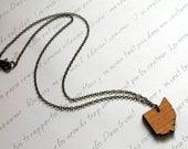 Wooden Ohio Necklace