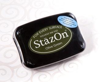 Stazon Permanent Ink Pad - Olive