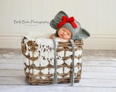 Alabama Baby Elephant Hat - Made to Order, photography prop