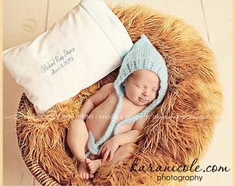 Newborn photo prop, blue mohair bonnet newborn/ baby hat, photography props, newborn boy, newborn girl, newborn bonnet