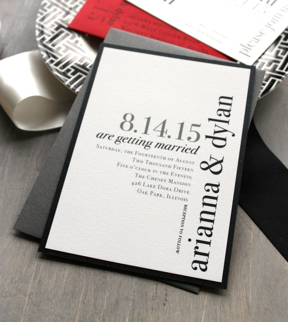 like this item - Modern Wedding Invitations