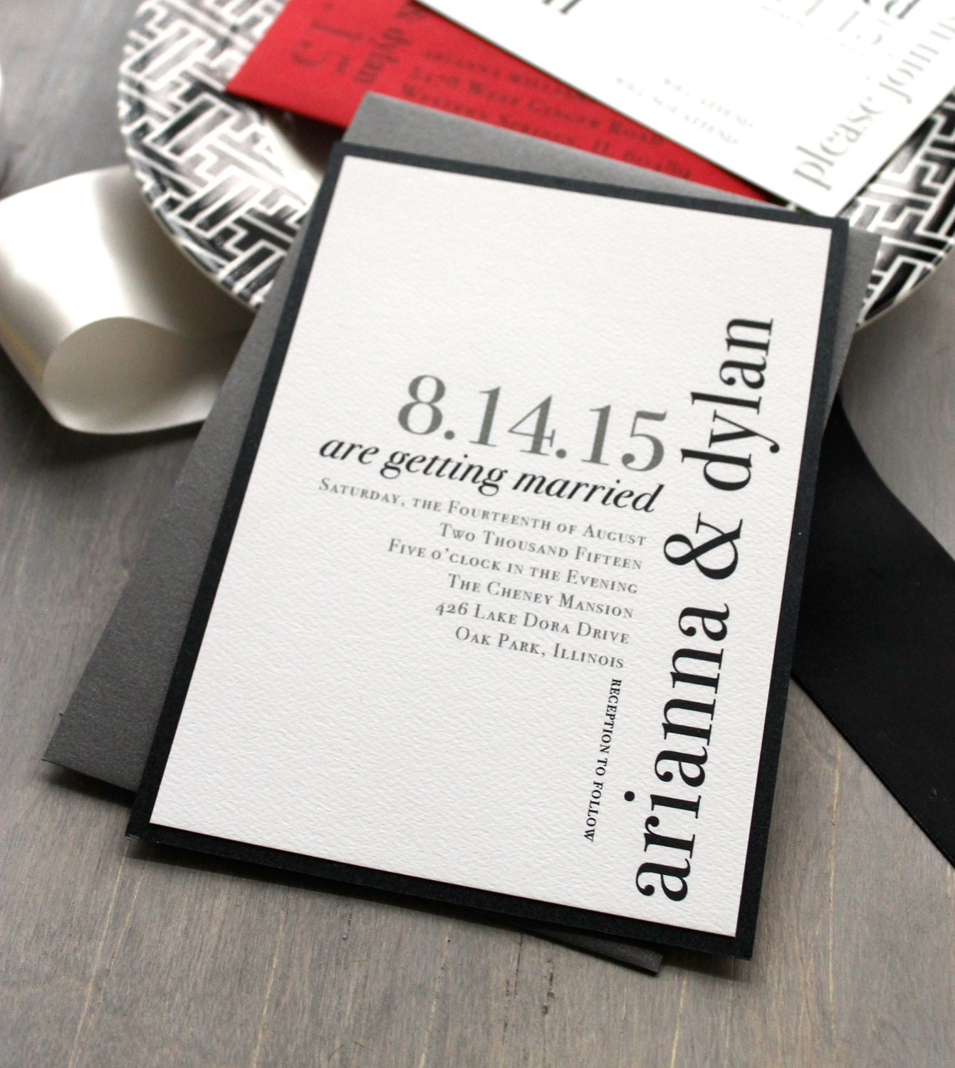 Modern Wedding Invite Wording: Modern Wedding Invitations Wedding Invitation Urban Chic