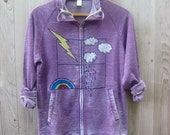 check the forecast Hoodie with Clouds, Lightning Rod, Rain and a Rainbow