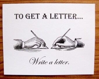 To Get a Letter, Write a Letter postcard set, pack of 5