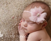 Newborn headband ~ newborn photo prop headband ~ Infant Headband ~ Pink headband ~ Baby Girl Hairband