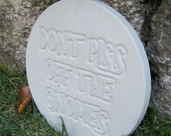 Gnome Garden Sign, Don't Piss Off The Gnomes Sign, Garden Plaque