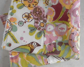 Dish Drying Mat/ Dish Mat / Dish Drying Towel/ Kitchen Drying Towel in Watercolor Bird Fabric /   Great Gift Idea for Women