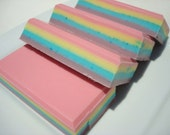 Fabulous Unicorn Soap - Rainbows and Unicorns - Rainbow Stripe in Pink, Purple, Yellow, Blue - Homemade Soap, Bar Soap, Rainbow Soap
