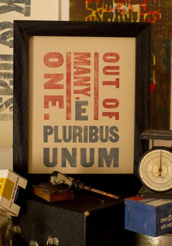 E Pluribus Unum- Limited Edition by MLK&toast