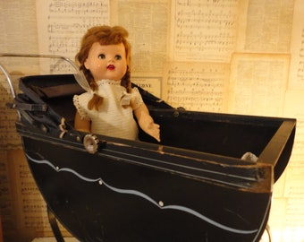 Antique Wood Doll Buggy South Bend Toy Co 100plus ys